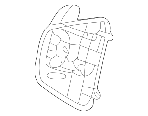 Honda Switch Assembly, L Paddle Shift *NH167L* (Graphite