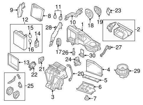 Evaporator & Heater Components for 2008 Volkswagen Eos