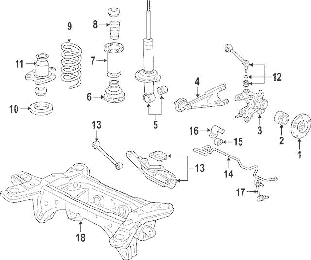 2006-2014 Honda RIDGELINE SEDAN Bearing Assembly, Rear Hub