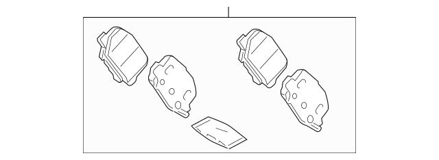 Genuine OEM Brake Pads Part# 4605B916 Fits 2013-2019