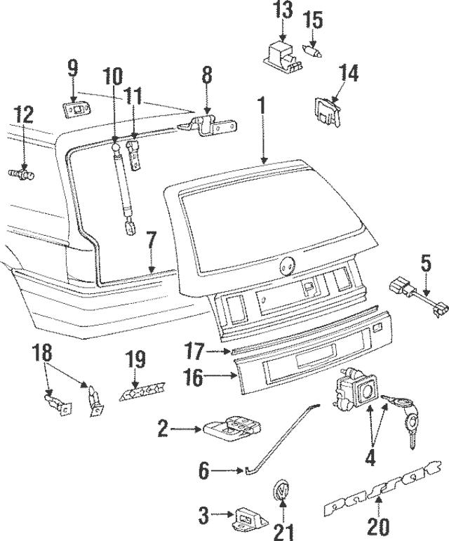 1990-2002 Volkswagen Weatherstrip 1H0-827-705-A