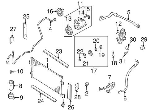 Condenser, Compressor & Lines for 1999 Nissan Frontier