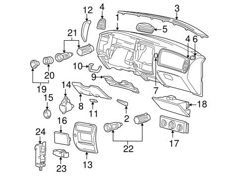 Instrument Panel for 2001 Mazda B2300