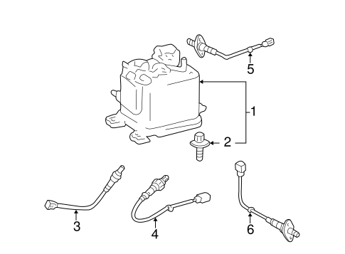Genuine OEM POWERTRAIN CONTROL Parts for 2003 Toyota