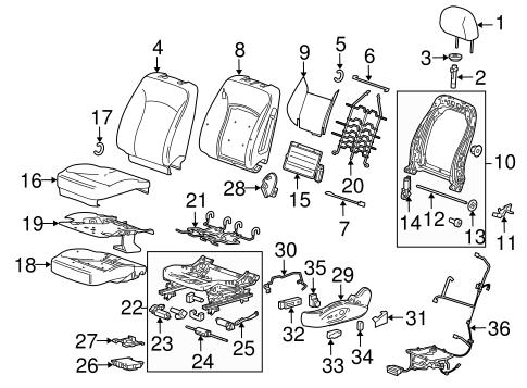 OEM 2012 Buick Regal Driver Seat Components Parts