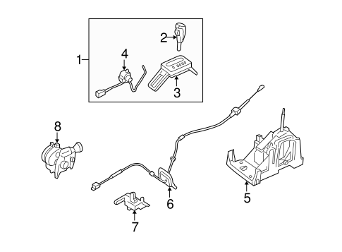SHIFTER HOUSING for 2006 Ford Freestyle
