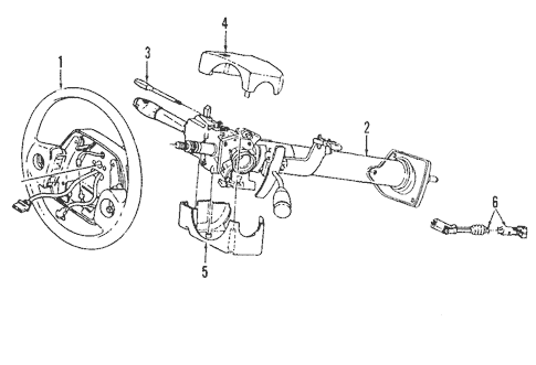 Steering Column Assembly for 2004 Dodge Ram 1500 Parts