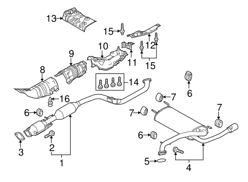 Genuine OEM Exhaust Components Parts For 2012 Mazda 3 i