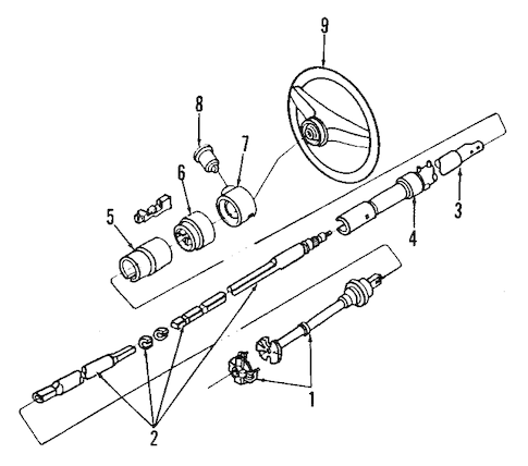 STEERING COLUMN for 1991 Ford Bronco