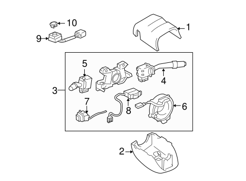 Genuine OEM Headlamp Components Parts for 1999 Toyota Land