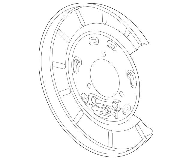 2010-2015 Chevrolet Camaro Backing Plate 23131778
