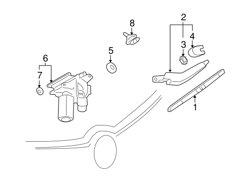 WIPER & WASHER COMPONENTS Parts for 2009 Buick Enclave