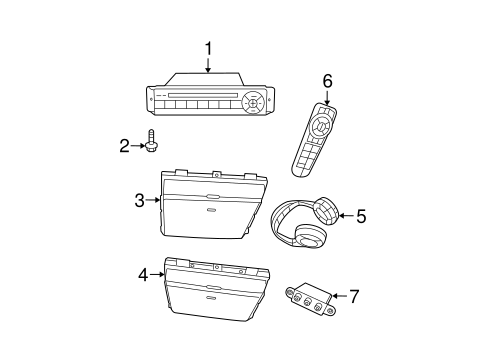 Entertainment System Components for 2008 Dodge Grand