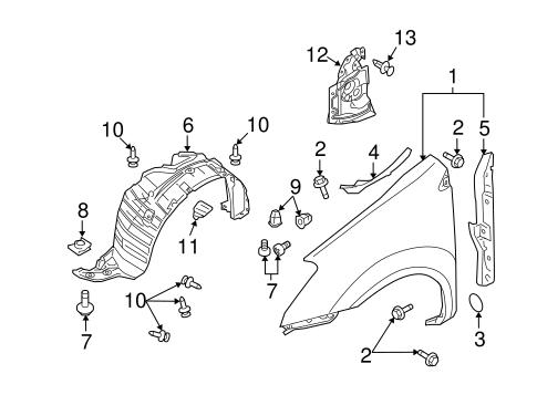 Fender Liner Grommet for 2015 Nissan Rogue Select|01281
