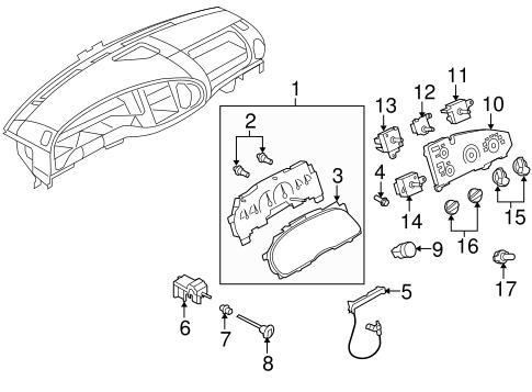 2010-2013 Ford Econoline AC Heat Temperature Control Knob