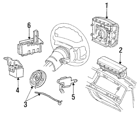 Air Bag Components for 1995 Mercury Grand Marquis