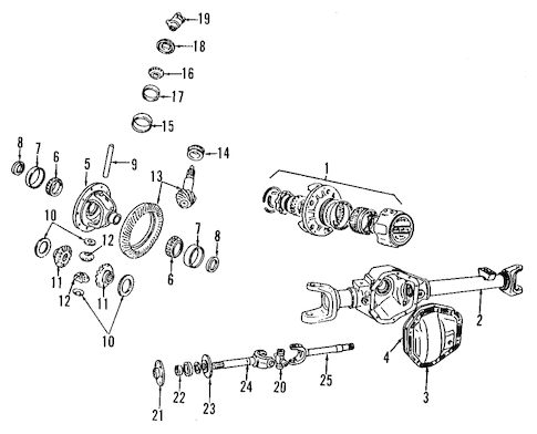 DIFFERENTIAL for 1985 Dodge W150