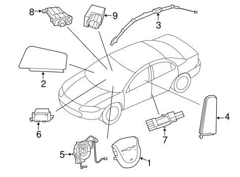 Air Bag Components for 2010 Chrysler Sebring Parts