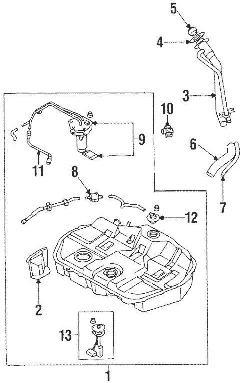 Fuel System Components for 1997 Mitsubishi Mirage