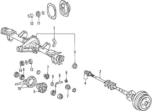 Genuine OEM Rear Axle Parts for 1984 Toyota Cressida