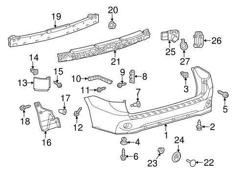 Toyota Sienna Body Parts Diagram / Outside Mirrors For