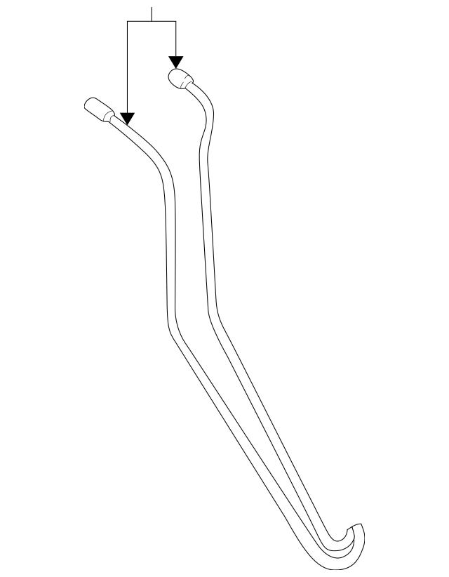 1999-2002 Volkswagen Cabrio Pressure Line 1E0-871-793-A