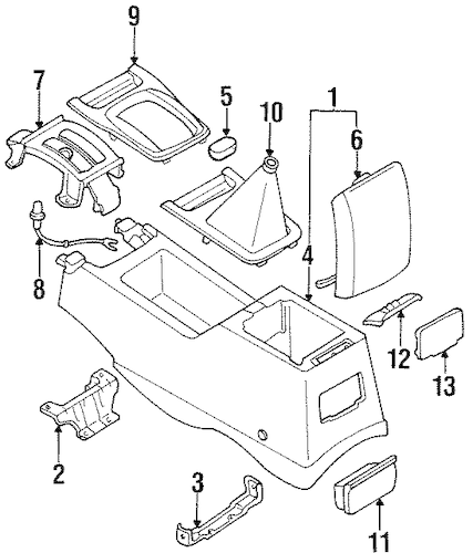 CENTER CONSOLE for 1993 Nissan Altima