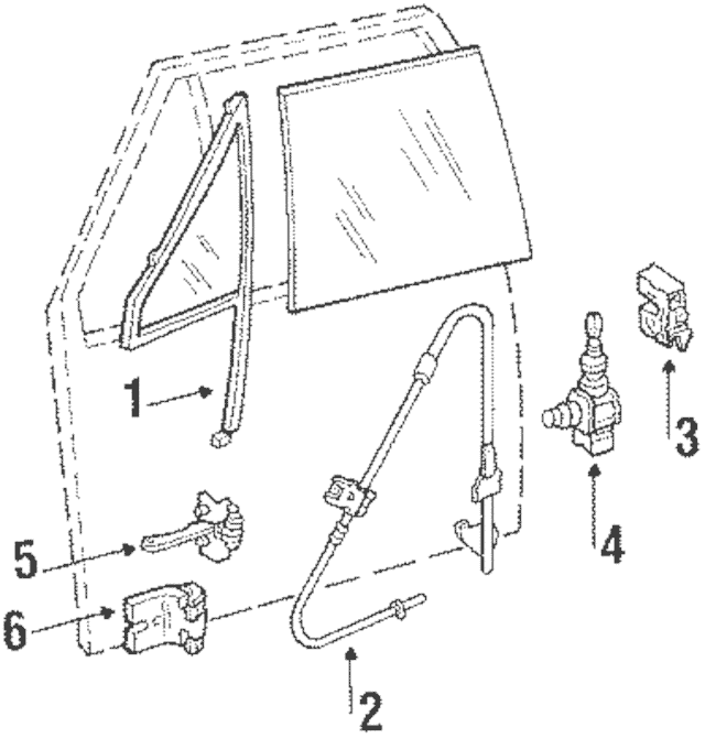 1984-1996 Jeep Manual Window Regulator, Driver / Left Side