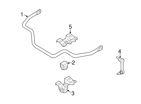 Stabilizer Bar & Components for 2005 Infiniti G35