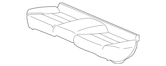 2010-2011 Honda INSIGHT Pad & Frame, Rear Seat Cushion