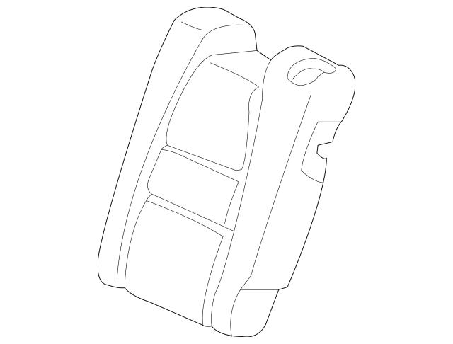 2012-2014 Honda INSIGHT Pad, L Rear Seat-Back 82527-TM8