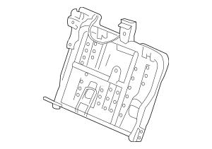 2010 Honda INSIGHT Frame, R Rear Seat-Back 82126-TM8-A01