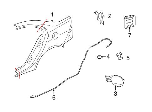 Quarter Panel & Components for 2017 Mitsubishi Lancer