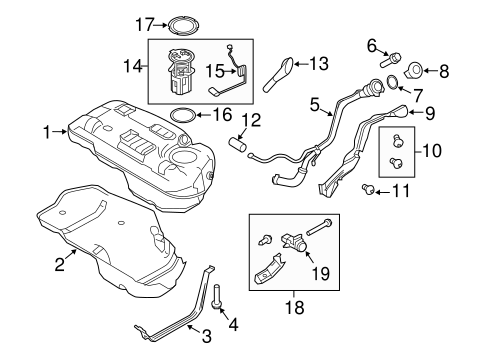 FUEL SYSTEM COMPONENTS for 2011 Ford Escape