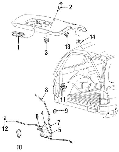 LIFTGATE for 2003 Ford Windstar