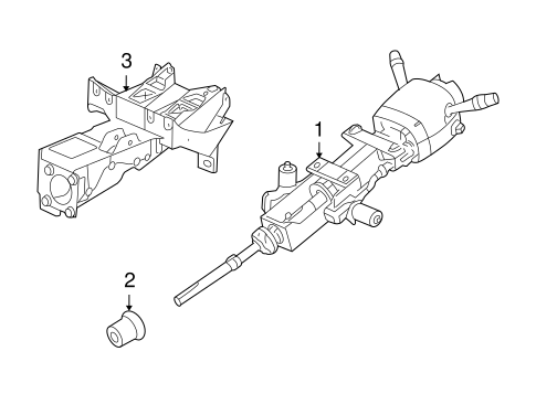 OEM STEERING COLUMN ASSEMBLY for 2004 Cadillac XLR