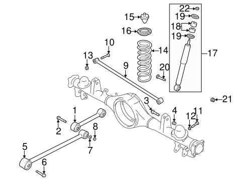 OEM 2002 Chevrolet Tracker Rear Suspension Parts