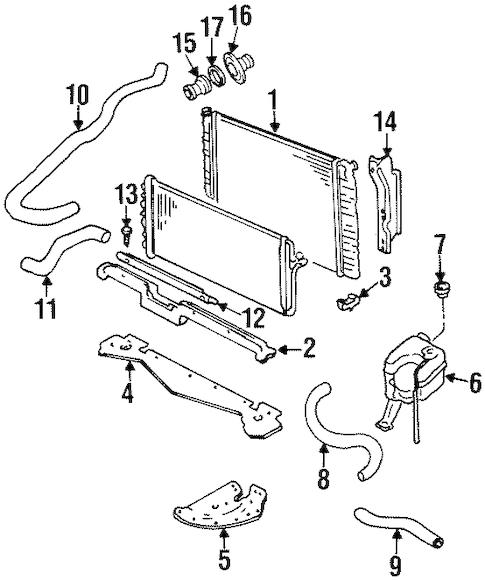 OEM 1999 Cadillac Eldorado Radiator & Components Parts
