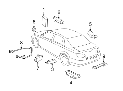 Genuine OEM Keyless Entry Components Parts for 2011 Toyota