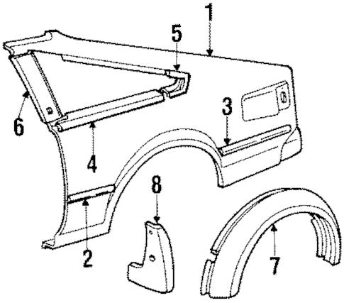QUARTER PANEL for 1985 Toyota Celica