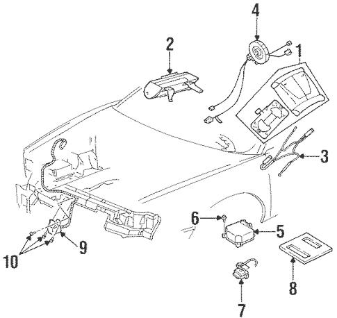 OEM 1999 Buick Riviera Air Bag Components Parts