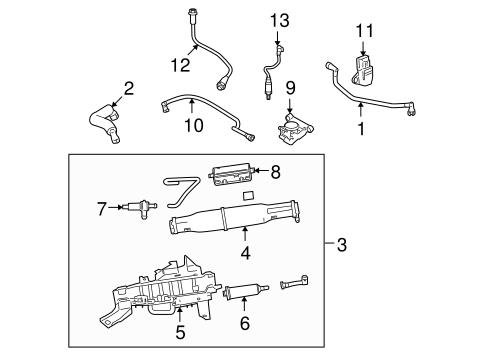 OEM 2008 Lincoln Navigator Emission Components Parts