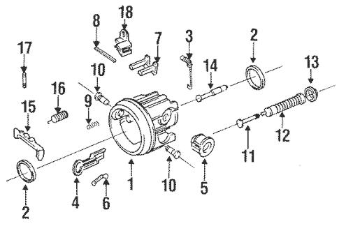 Tilt Steering Column Components for 1998 Oldsmobile LSS