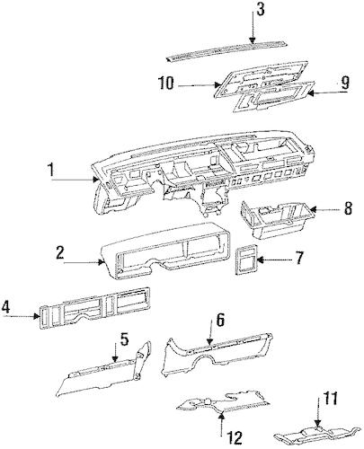 OEM INSTRUMENT PANEL for 1989 Cadillac Eldorado