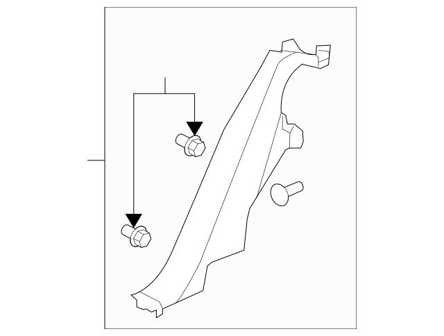 2008-2012 Chevrolet Malibu Lock Pillar Trim 25946446