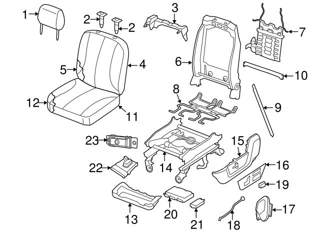 Genuine Mopar Cover-Front Seat Cushion 5MV61LA8AB