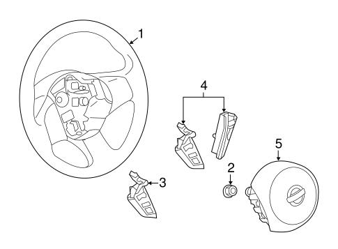Steering Wheel & Trim for 2014 Nissan Versa Note