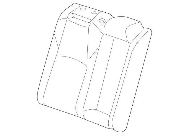 Honda Cover, R Rear Seat-Back Trim *NH900L* (Leather