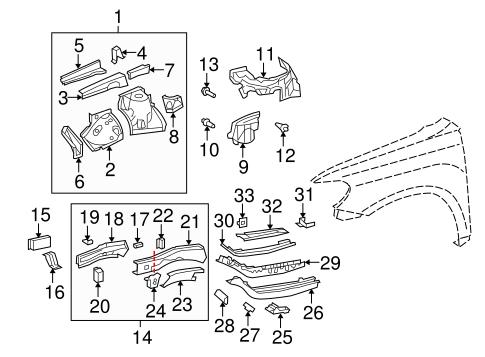 Structural Components & Rails for 2008 Toyota Highlander