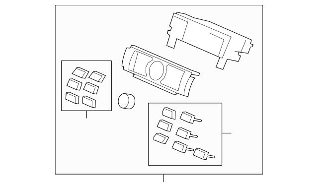 Control Assembly, Heater *NH658L* (Dj Interior Silver